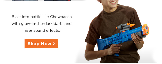 Shop Star Wars Nerf Chewbacca Blaster