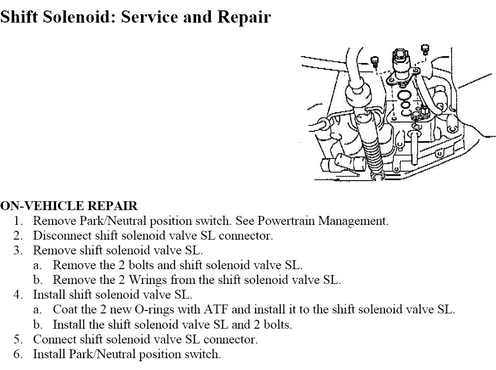 service manual   change shift interlock solenoid