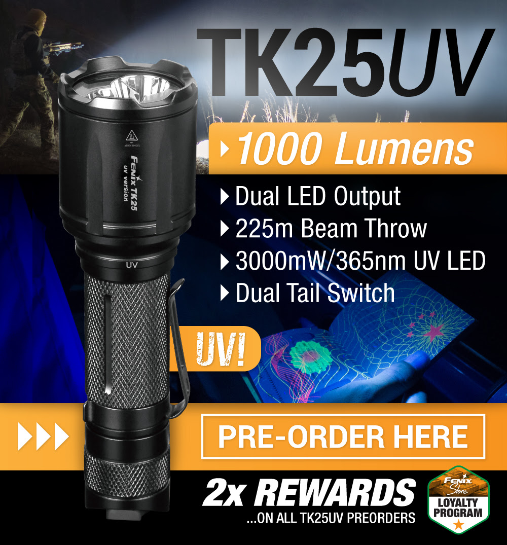 Fenix TK25UV LED Flashlight