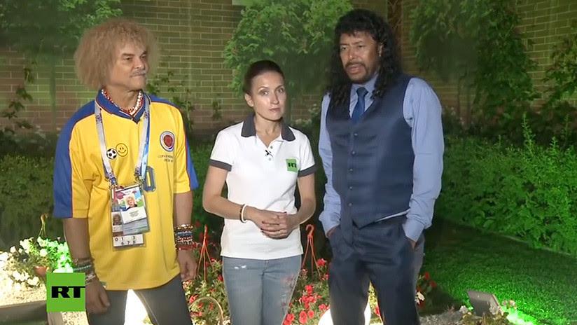 Higuita y 'El Pibe' charlan con RT tras el triunfo colombiano: