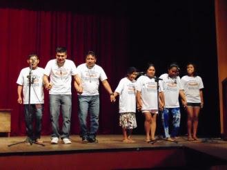 Representantes dos povos indígenas Kaxuyana  e Tiriyó