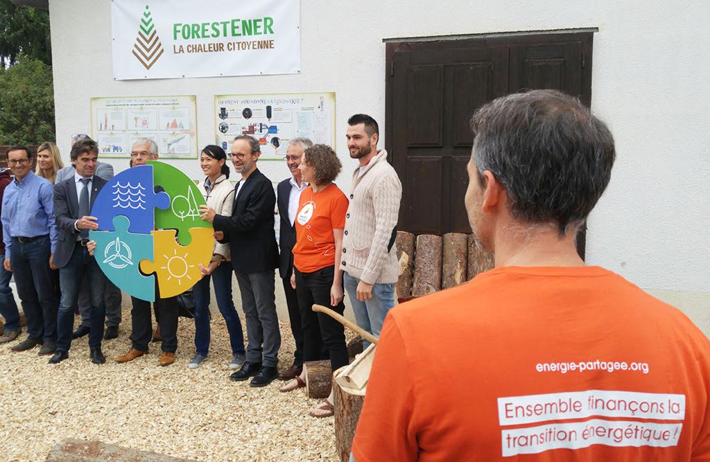 Revivez en images l'inauguration de la chaufferie citoyenne ForestEner Lucinges