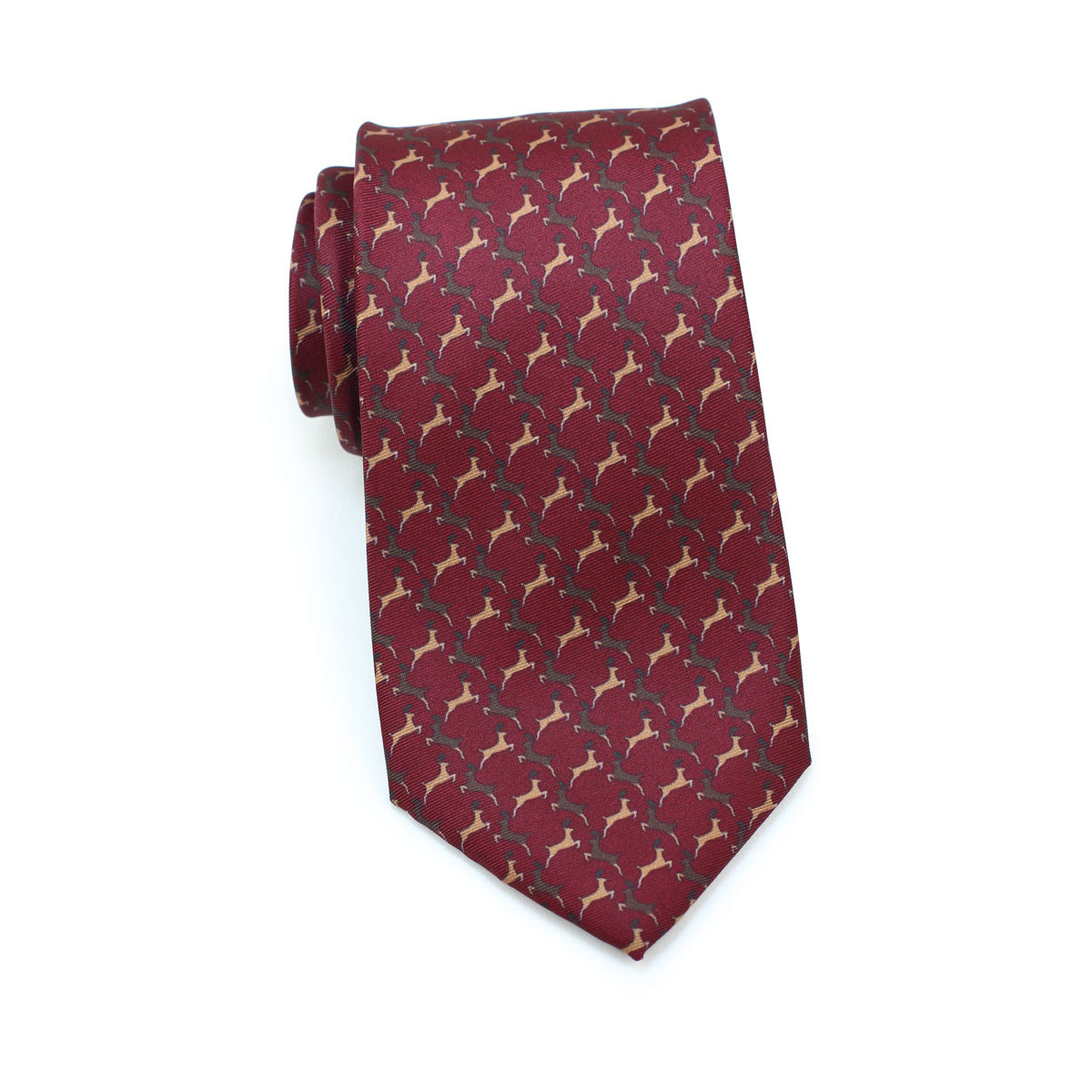 Christmas neck tie in cherry red