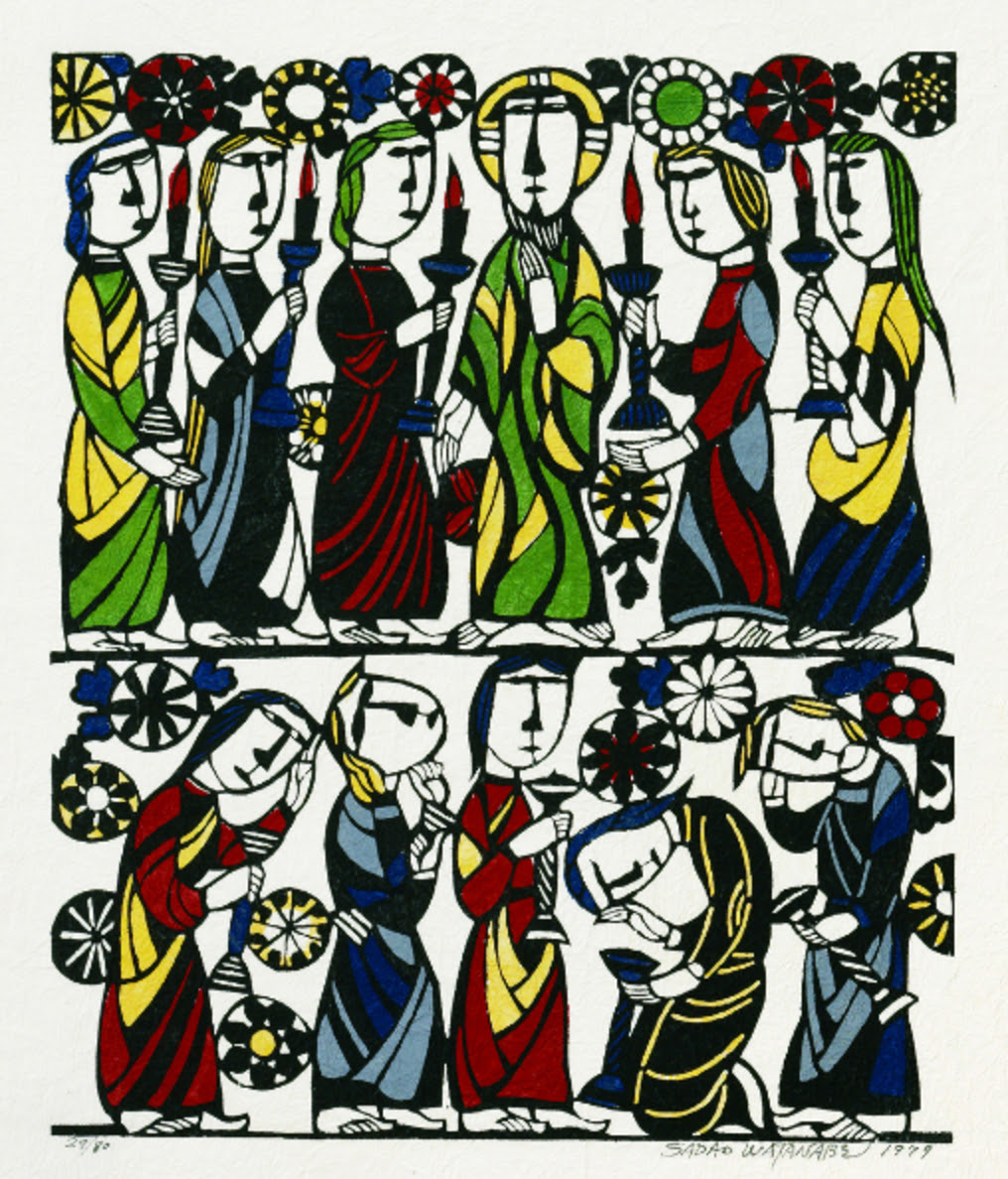 Sadao Watanabe (1913-1996). Ten Virgins, 1979.