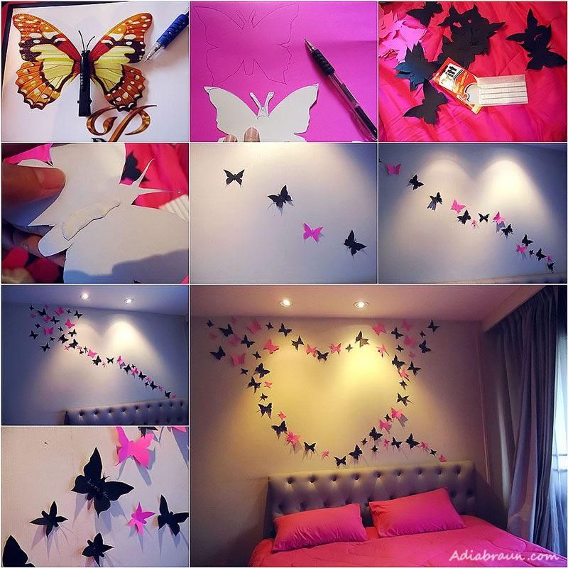 Kelebek Duvar Dekorasyon DIY nasil