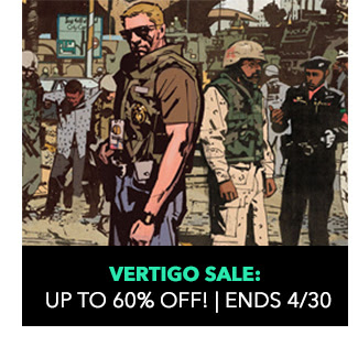Vertigo Sale: up to 70% off! Sale ends 4/30. SHOP NOW.