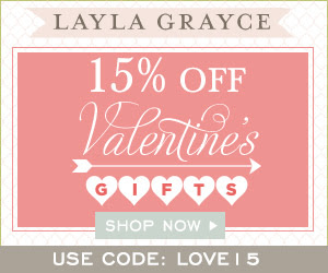 15% off Valentine's Day Gifts at Layla Grayce!