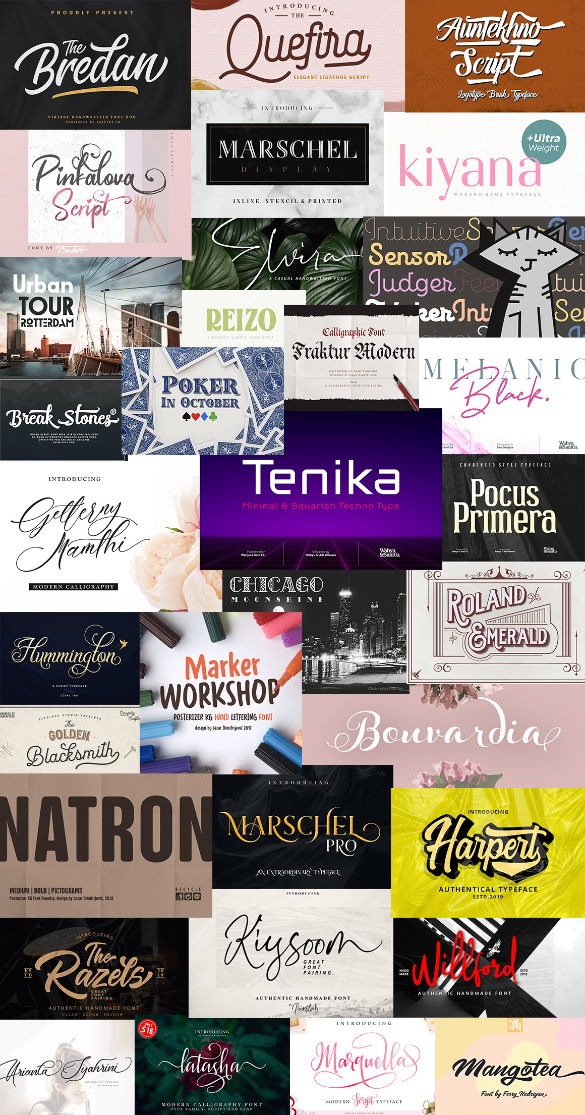 The Ultra-Modern Fonts Bundle 2019  Preview