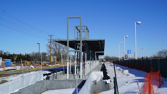 Weekly Construction Photo: Downtown Hopkins Station