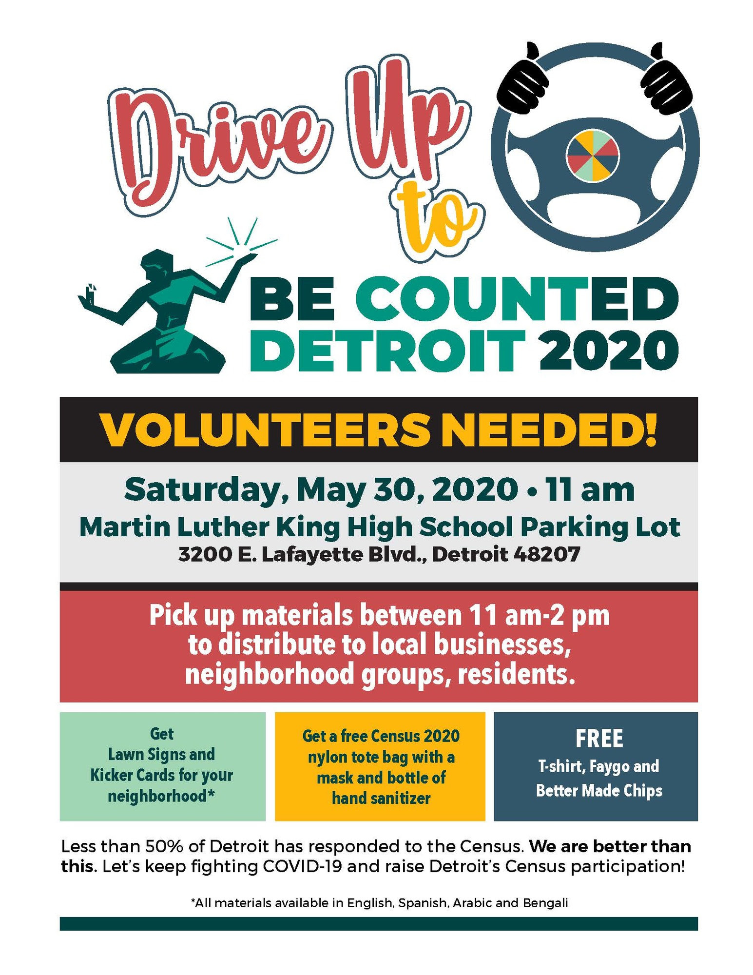Census Drive-Up Event May 30 2020