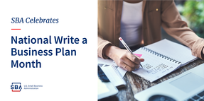SBA Celebrates National Write a Business Plan Month