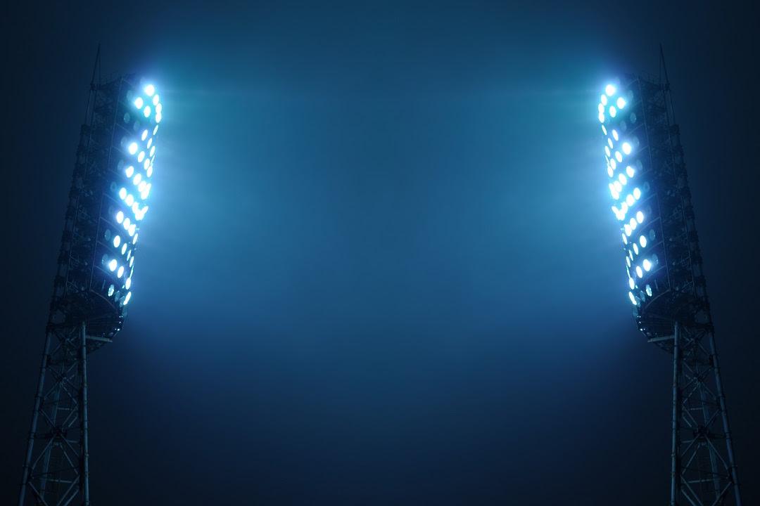 strutture sportive, luci