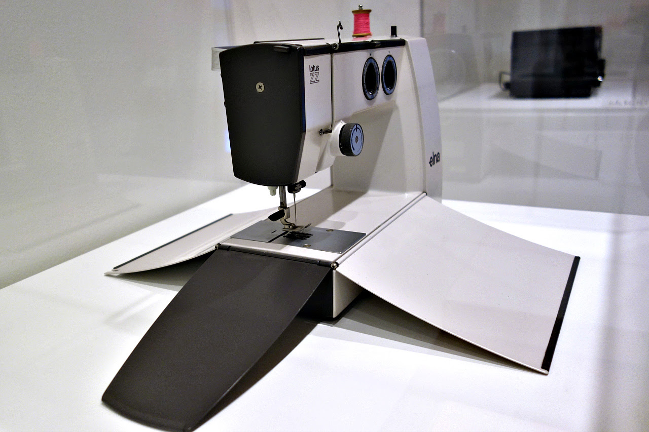 "Compagnie de L'Esthétique Industrielle (est. by Raymond Loewy), Douglas Kelley, and Roger Riche, ""Elna Lotus Sewing Machine"" (designed in 1965, example from 1969-70)"
