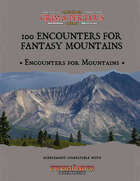 100 Encounters for Fantasy Mountains cover