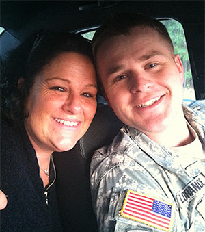 Anna and her son 1LT Clint Lorance