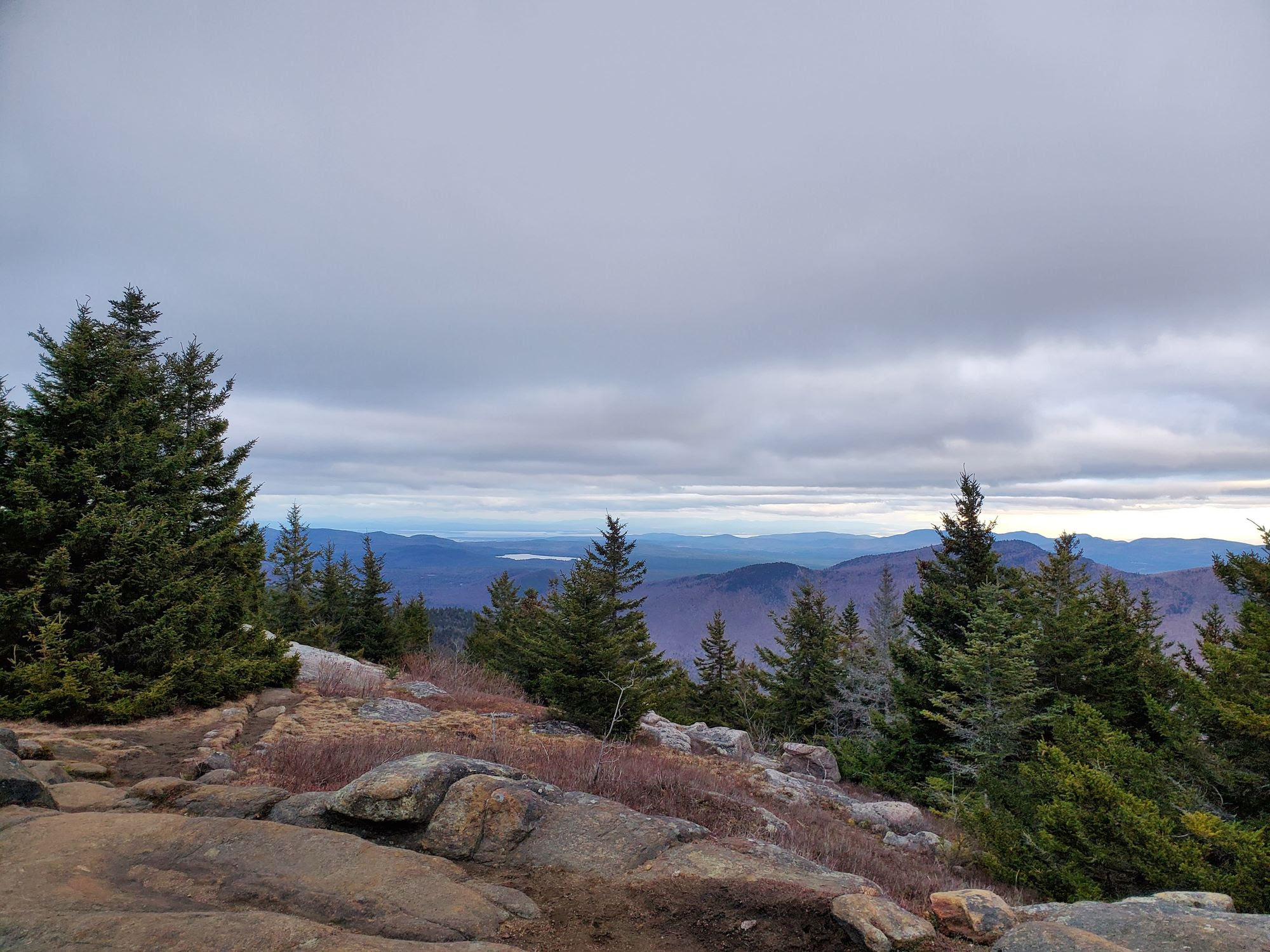 View from summit of Adirondack Mountain