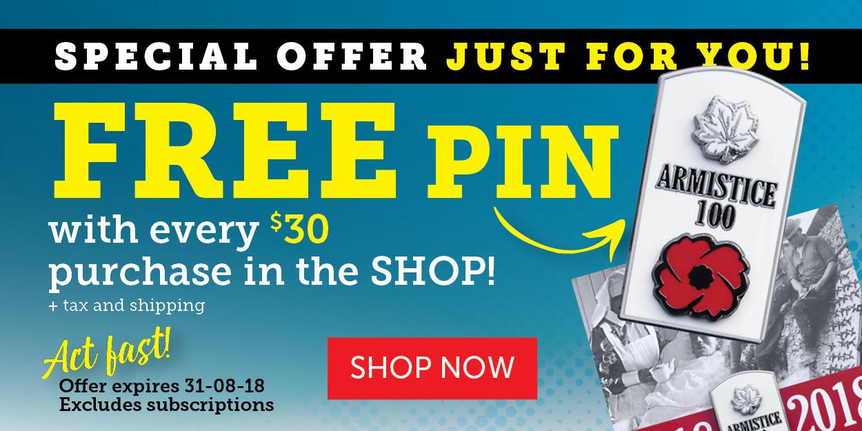 Free WWI Armistice Pin!