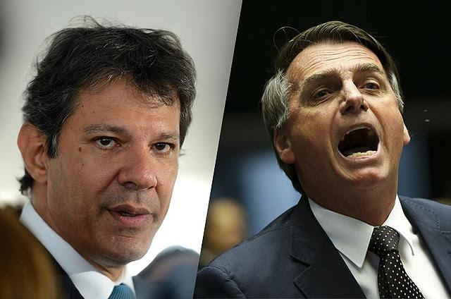 Haddad y Bolsonaro disputarán la segunda vuelta de las elecciones el 28 de octubre  - Créditos: Divulgación / Montaje