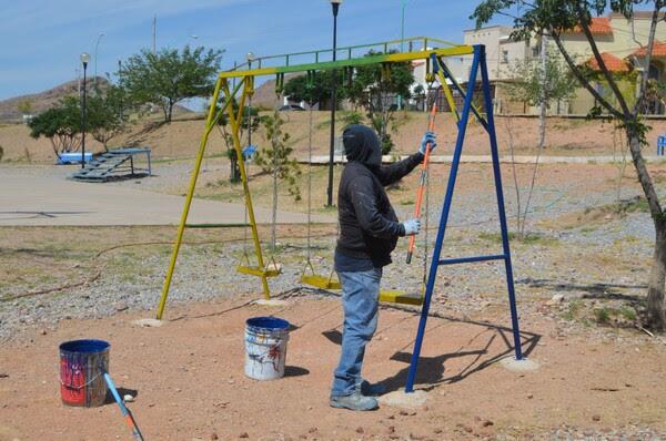 16233454706050412 Pausa MX Atendió Gobierno Municipal 78 parques con trabajos de pintura durante mayo