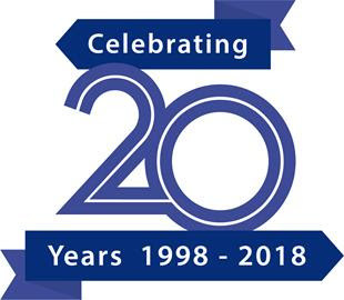 20 year celebration logo