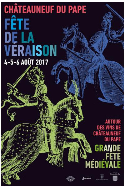 Ce dimanche 6 août 2017, Fête de la Véraison à Châteauneuf du Pape