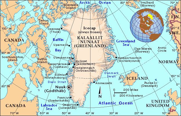 Greenland Location