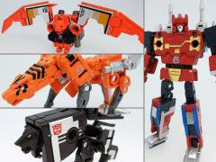 TRANSFORMERS MASTERPIECE MP-15 MP-16E CASSETTEBOT VS CASSETTERON SET