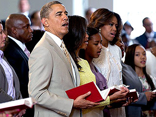 Image result for obama going to church images
