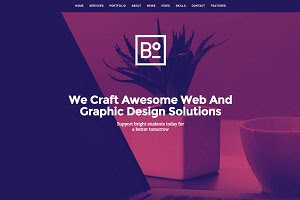 Boxus - One Page WordPress Theme