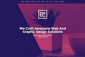 Boxus - One Page WordPress Theme