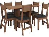 Mesa de Cozinha 6 Cadeiras Retangular Milano
