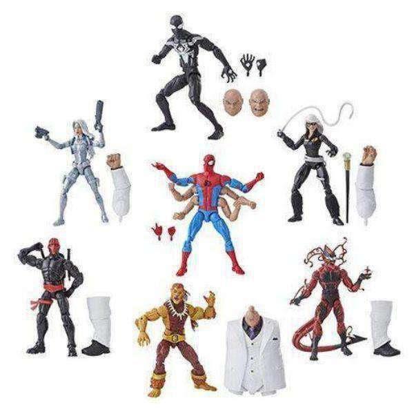 Image of Amazing Spider-Man Marvel Legends Wave 11 (Kingpin BAF) - Set of 7