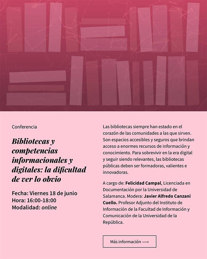 Bibliotecas y competencias informacionales y digitales