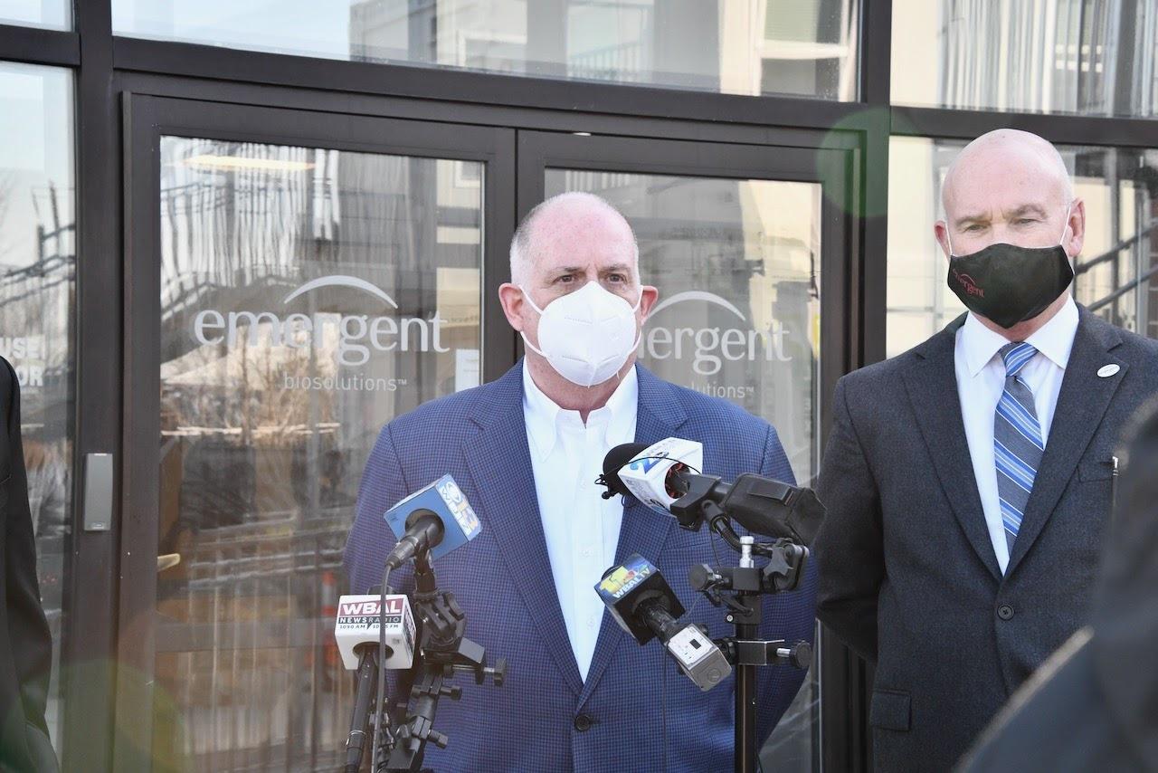 governor hogan speaks at emergent biosolutions