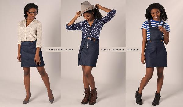 Popshop Convert-A-Skirt Overalls