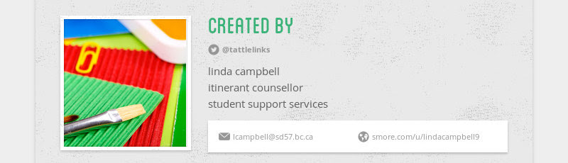 created by @tattlelinks linda campbell itinerant counsellor student support services...