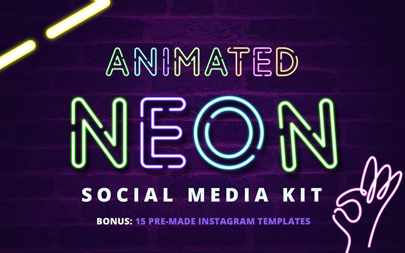Neon Social Media Kit