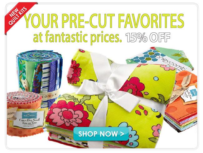 15% off Quilting Fabric Assortments & Fat Quarters