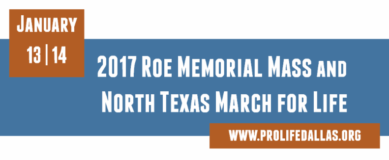 2017 Roe Memorial Mass and North Texas March for Life
