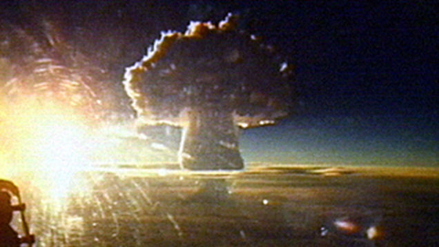 Russia Detonated Its Biggest Nuclear Bomb to Kill an Invincible Alien  (Video)