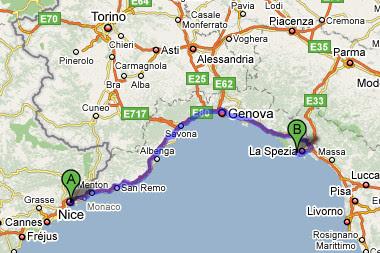 nice to cinque terre map - Que ocurrio en 1608 en los cielos de Niza y Genova