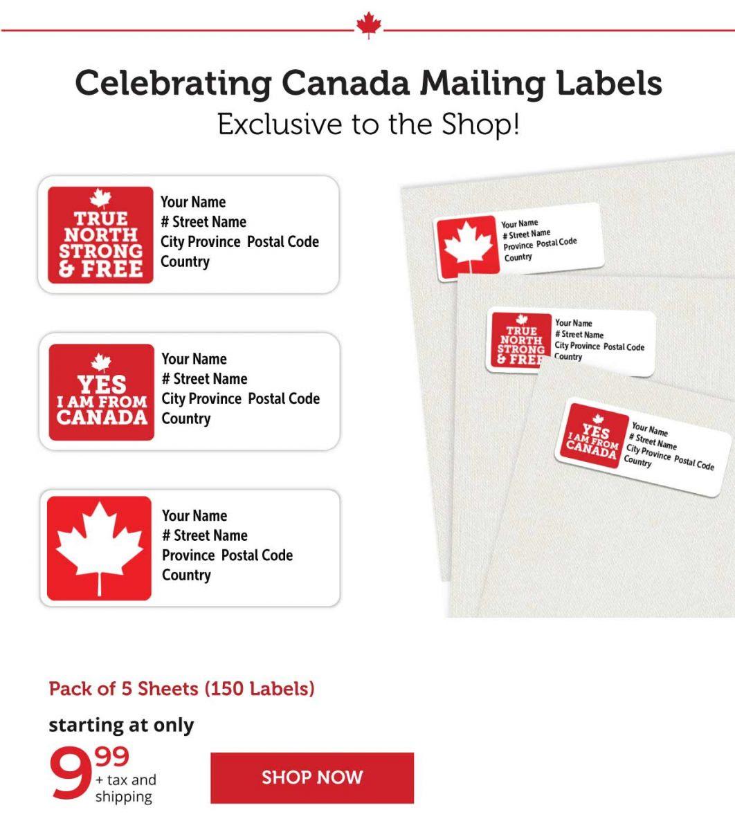 Celebrating Canada Mailing Labels