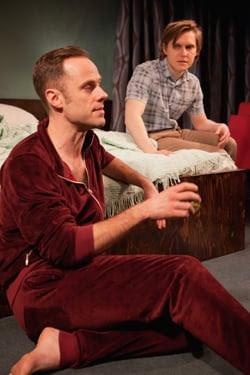 L-R Jay Taylor (Robert) & Oliver Coopersmith (Alan) - 46 Beacon - Trafalgar Studios