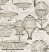 Vintage Hot Air Balloons Floating in the Sky Mural