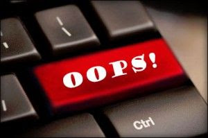 A picture of a key board with ''Oops'' where ''Enter'' should be