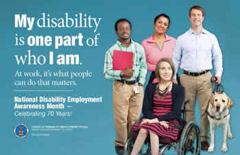 2015 NDEAM Image: My disability is one part of who I am.