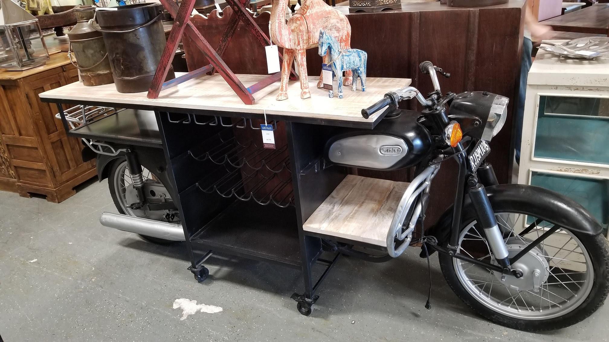 artisan- black motorcycle bar