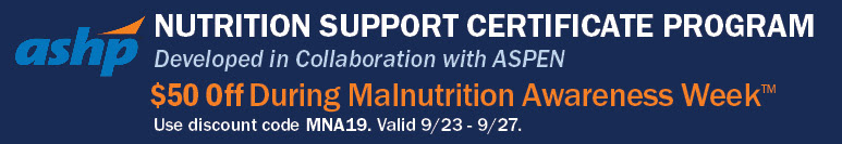 Nutrition Support Certificate Program - $50 Off