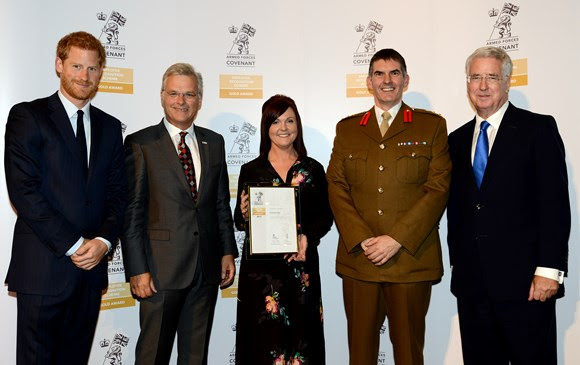 Network Rail strikes gold with award for work with Armed Forces community