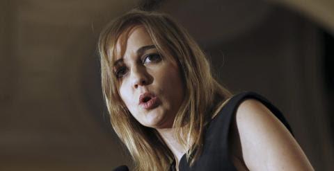 La excandidata de IU a la presidencia de la Comunidad de Madrid, Tania Sánchez, durante su intervención en un desayuno informativo de Economía Forum. -EFE/Sergio Barrenechea